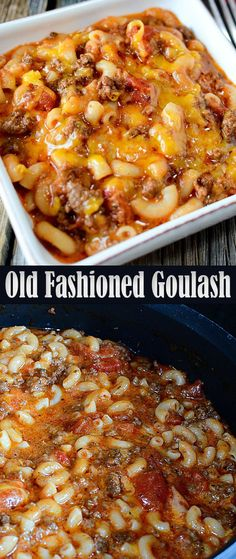 Old Fashioned Goulash-fantastic! I didn't add the olive oil. Serve with garlic bread and a salad, and you have a nice kid friendly dinner. Casserole Recipes, Crockpot Recipes, Soup Recipes, Dinner Recipes, Healthy Recipes, Dinner Ideas, Pasta Recipes, Pasta Meals, Yummy Recipes