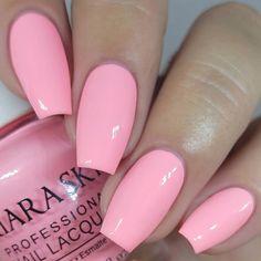 Pin by demetria on beautiful nails in 2019 blush pink nails, pink acrylic n Blush Pink Nails, Light Pink Nails, Sky Nails, Glitter Nails, Kiara Sky Gel Polish, Pink Nail Polish, Nail Polishes, Simple Acrylic Nails, Pink Acrylic Nails