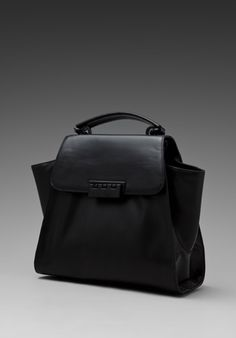 Z SPOKE BY ZAC POSEN Eartha Hinged Top Handle Bag in Black at Revolve Clothing - Free Shipping!