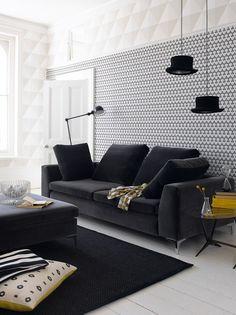 A particularidade de se usar preto e branco é que qualquer uma terceira cor adicionada ao ambiente resulta sempre na perfeição