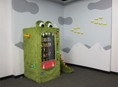 Mark Jacobs and Mette Hornung Rankin create the Goodie Monster, a good food vending machine for their office building