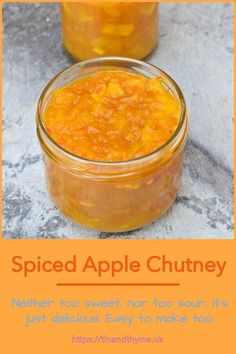 A fabulous autumn chutney that's easy to make and ready to eat just in time for Christmas. Makes a great gift and will keep well for at least a year. Delicious with cheese and crackers as well as in sandwiches and as an accompaniment to curry. #TinandThyme #AutumnRecipe #AppleChutney #SpicedChutney #Christmas Healthy Eating Recipes, Delicious Vegan Recipes, Whole Food Recipes, Amazing Recipes, Healthy Meals, Vegan Christmas Desserts, Vegan Christmas Dinner, Christmas Recipes, Apple Recipes