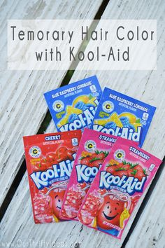 Kool Aid Hair dye the easiest way to make temporary hair color! It is a fun way to add a little color without it being permanent.