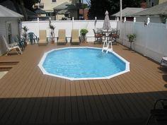 semi inground pool deck   Semi Inground Pools Long Island