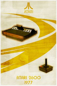 (retro/modern poster) -Atari 2600...the 80's video game system that brought the arcade home!