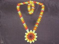 Flor de cuentas Beadwork, Beaded Necklace, American, Inspiration, Jewelry, Cartago, Loom, Beads, Accessories