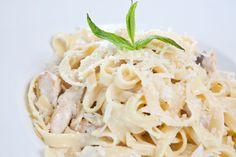 Chicken Fettuccine Alfredo Recipe Main Dishes with fettucine, boneless skinless chicken breasts, onions, butter, garlic, salt, black pepper, heavy cream, parmesan cheese, grated nutmeg