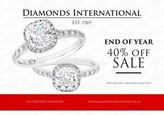 views At Diamonds International diamond jewellery stores, we offer 40% discount on End of Year Sales!