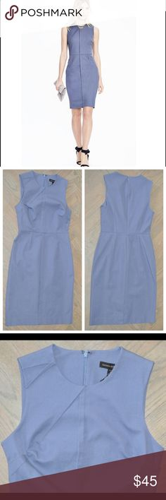 Banana republic blue dress Banana Republic bi-stretch dress. Classy and sophisticated. This item is completely sold out on line except for a size 14. Currently on sale for $66 including tax. Brand new with tags never worn. Size 4P Banana Republic Dresses Midi