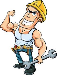 Funny cartoon builders vector illustration 20