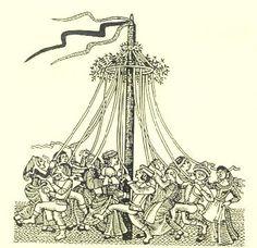 Medieval Maypole and Morris Dancing