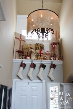 Christmas Presents Tucked Above the Front Door