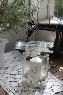Willa Wanilla: elokuu 2012 Glass Vase, Jar, Home Decor, Decoration Home, Room Decor, Home Interior Design, Jars, Glass, Home Decoration