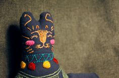 Gustav / Embroidered cat by Gatosalados