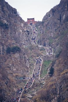Mount Taishan, China~ The sacred Mount Tai ('shan' means 'mountain') was the object of an imperial cult for nearly 2,000 years, and the artistic masterpieces found there are in perfect harmony with the natural landscape. It has always been a source of inspiration for Chinese artists and scholars and symbolizes ancient Chinese civilizations and beliefs.