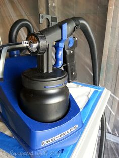 Finish Max Pro, fine finish electric sprayer from @HomeRight  Love the ease of this sprayer and the flawless finish!
