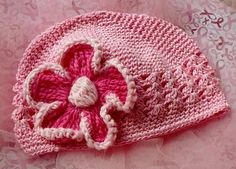 Childs Pink Hand Decorated Chemo Hat Chemo Pink Hat by ArtsyTreats, $12.00