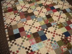 Sherri from A Quilting Life  finished this amazing quilt with all the peicing in 24 hours total! It  is a beautiful quilt, and you can find ...