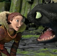 valka and toothless ... httyd2
