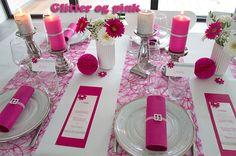 inspiration pink borddækning