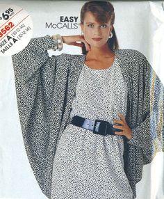 Vintage 80s McCalls 3562 UNCUT Bat Wing Jacket and by RomasMaison