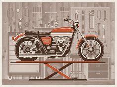 KUSTOM FACTORY Coussin Moto Vintage