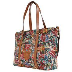 Women's Shoulder Bags - Disney Vintage Mickey Pattern All Purpose Shoulder Bag Large Shopper Handbagbag0581 * You can find more details by visiting the image link.