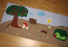 Erdő-Mező falvédő, Baba-mama-gyerek, Gyerekszoba, Falvédő, takaró, Meska