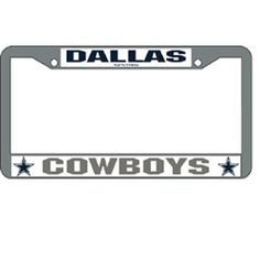 dallas cowboys nfl chrome license plate frame