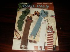 Bookmark Bookmarker Crochet Patterns Page Pals Leisure Arts 2478 Sue Penrod Crochet Pattern Leaflet