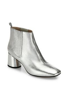 Marc Jacobs - Rocket Metallic Leather Block Heel Chelsea Booties