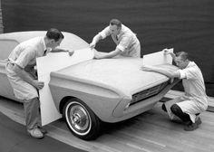 """""""Allegro"""" 1965 Ford Mustang Prototype under construction"""