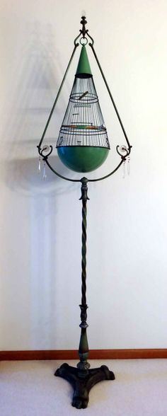 Awesome Old Antique 1920's Hendryx Art Deco Bird Cage hendrix