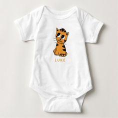 Personalized Tiger Cub | Baby Bodysuit custom gift ideas diy
