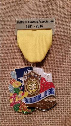 2016 Battle of Flowers Anniversary Medal
