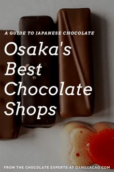 One of the biggest foodie destinations in the world has another attraction: chocolate. Find the best spots to savor this delicacy, Japanese-style, in this guide to Osakas chocolate shops. Guide To Japanese, Japanese Style, Japanese Food, Japan Travel Guide, Asia Travel, Travel Guides, Travel Tips, Chocolate Shop, Best Chocolate