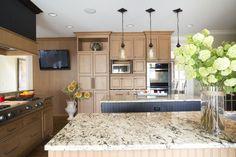 Photo by Med Dement  #kitchen #granite #decor #homedecor #chattanooga #cha #kitchenisland #island #countertops #cabinets #pendantlights #appliances