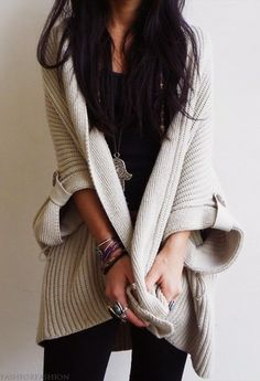 chunky knits #fashion #style