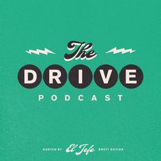 """""""The Drive"""" podcast cover art on Behance Typography Fonts, Graphic Design Typography, Branding Design, Book Cover Design, Book Design, Podcast Ideas, Thumbnail Design, Drop Logo, Starting A Podcast"""