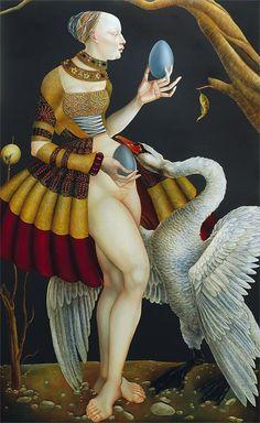 Leda and the swan. by Joanna Chrobak