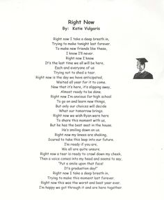 Poems For Graduating Daughters  High School Graduation Poem