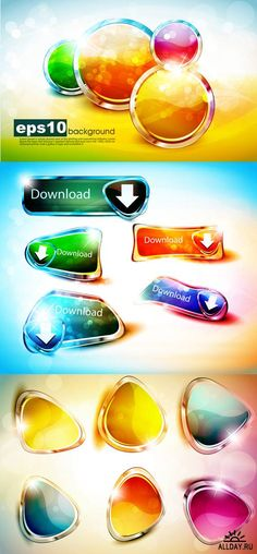 Bright Web Buttons Vector