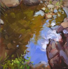 Carol Marine's Painting a Day: Reflections in a Puddle