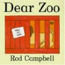 Dear Zoo, by Rod Campbell.  A letter to the zoo leads to a parade of animals, some too big or tall and one just right.