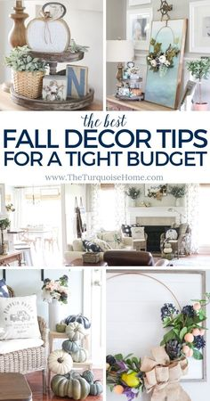 Budget Friendly Fall Decor Tips U0026 Fall Home Tour