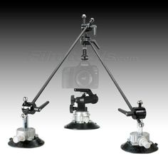 """Filmtools® Gripper 3025 6"""" Suction Cup Camera Mount Plus Triangulation Kit BUNDLE. Pack away in your own case or buy a custom built one from us! The dense pre-cut foam will make sure your rods won't get bent or lost and you wont need to worry about messing up those suction cups! plus this is a great item for location shooters and seeing how your filming a car..."""