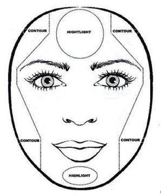 How to Contour a Round Face, from Kat and the Closet: Contour and Highlight - Makyaj - Augen Make Up Face Contouring, Contour Makeup, Contouring And Highlighting, Skin Makeup, Contour Face, Contouring Tutorial, Eyebrow Makeup, All Things Beauty, Beauty Make Up