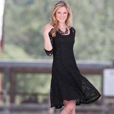 Lovely Black Lace Western Dress http://www.modandretro.com/lovely-black-lace-western-dress/
