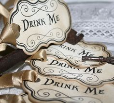 DRINK ME-Vintage Style Tags-Birthday-Wedding-TeaParty-Alice Wonderland-Beautiful | eBay