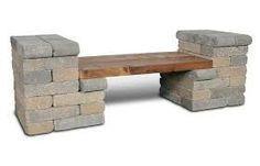 Resultado de imagem para como fazer banco de alvenaria com madeira em cima